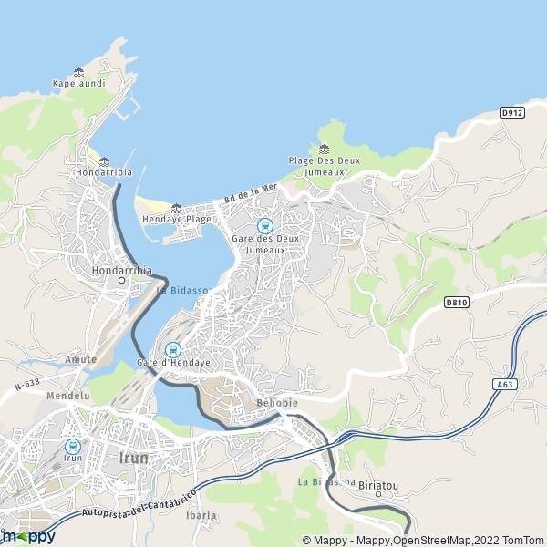 Hendaye France Map.Hendaye Hendaye France Citiestips Com