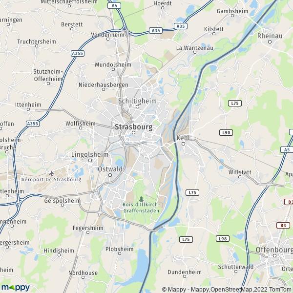plan de Strasbourg, carte de Strasbourg