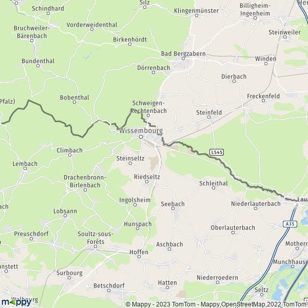 Wissembourg Carte Alsace.Plan Wissembourg Carte De Wissembourg 67160 Et Infos