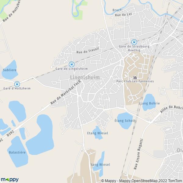 Lingolsheim France  City new picture : Plan Lingolsheim : carte de Lingolsheim 67380 et infos pratiques