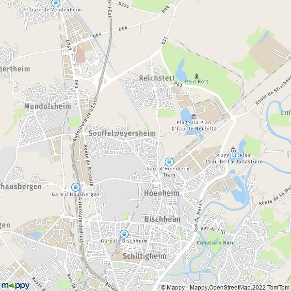 Plan Souffelweyersheim Carte De Souffelweyersheim 67460 Et Infos Pratiques