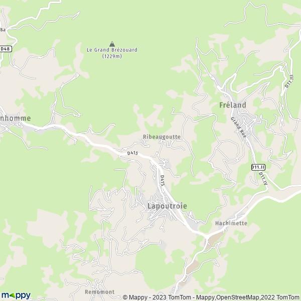 Carte Alsace Lapoutroie.Plan Lapoutroie Carte De Lapoutroie 68650 Et Infos Pratiques