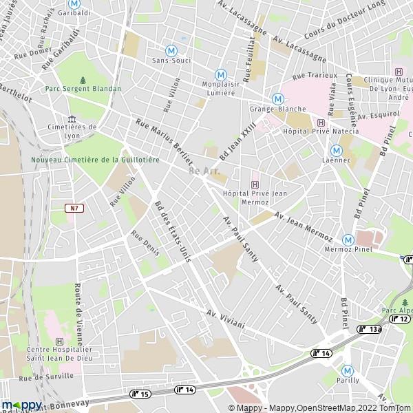 Plan Lyon Carte De Lyon 69008 Et Infos Pratiques