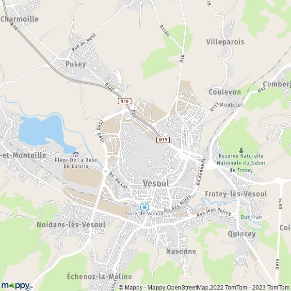 Plan Vesoul carte de Vesoul 70000 et infos pratiques