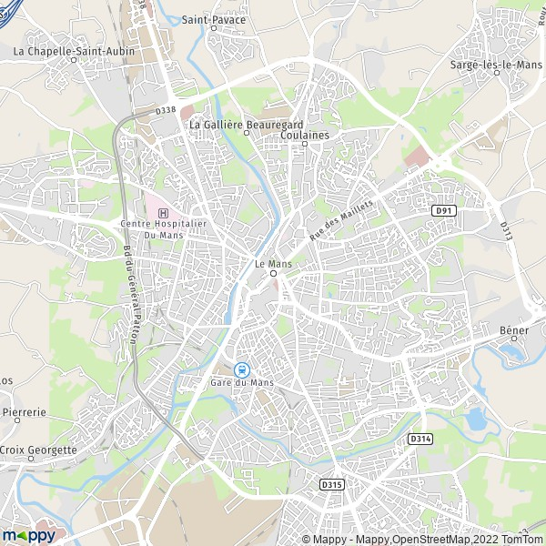 Plan De Le Mans Carte
