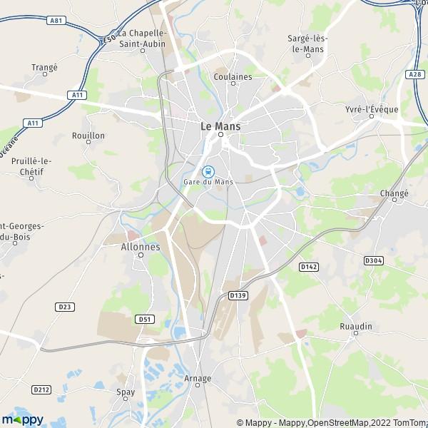 Plan Le Mans Carte De Le Mans 72000 Et Infos Pratiques