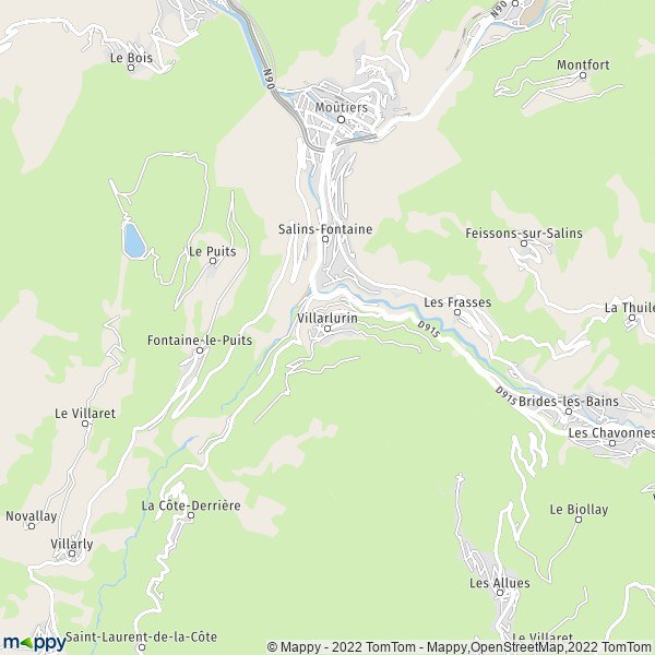 Plan villarlurin 73600 les belleville carte de for Plan de belle villa