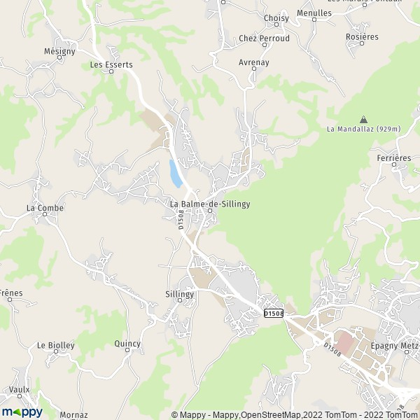 plan de La Balme-de-Sillingy, carte de La Balme-de-Sillingy