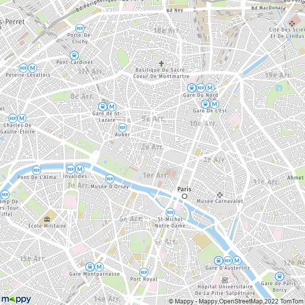 plan de 2e Arrondissement Paris, carte de 2e Arrondissement Paris