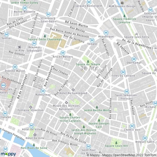 Plan Paris Carte De Paris 75003 Et Infos Pratiques