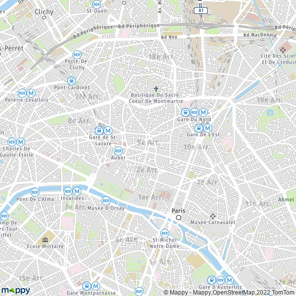plan de 9e Arrondissement Paris, carte de 9e Arrondissement Paris
