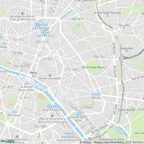 plan de 11e Arrondissement Paris, carte de 11e Arrondissement Paris