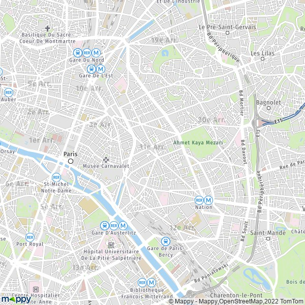 plan de 11e Arrondissement, Paris, carte de 11e Arrondissement, Paris