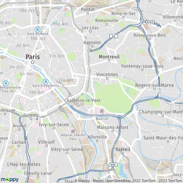 Karte Paris Arrondissement.Plan Paris Carte De Paris 75012 Et Infos Pratiques