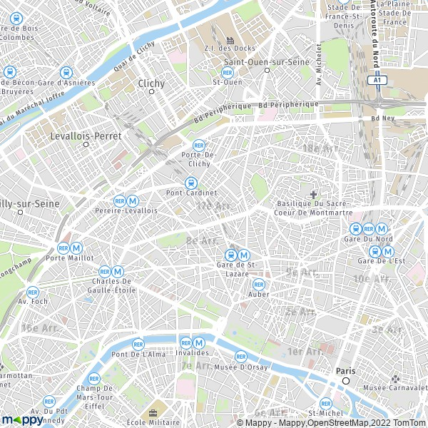plan de 17e Arrondissement Paris, carte de 17e Arrondissement Paris