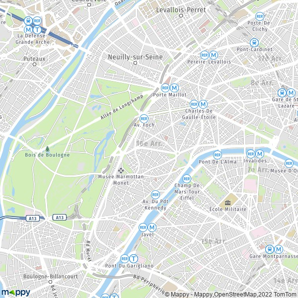 plan 16e arrondissement paris mappy carte de 16e arrondissement paris 75016 et infos pratiques. Black Bedroom Furniture Sets. Home Design Ideas