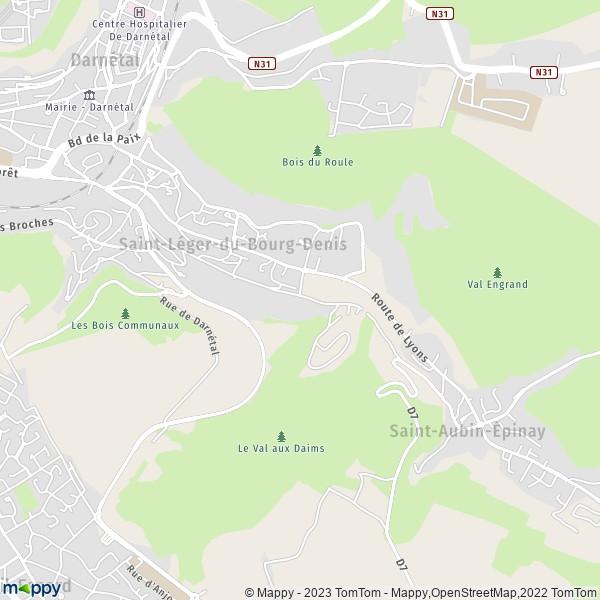 Plan saint l ger du bourg denis carte de saint l ger du bourg denis 76160 et infos pratiques - Central jardin saint bonnet pres riom ...