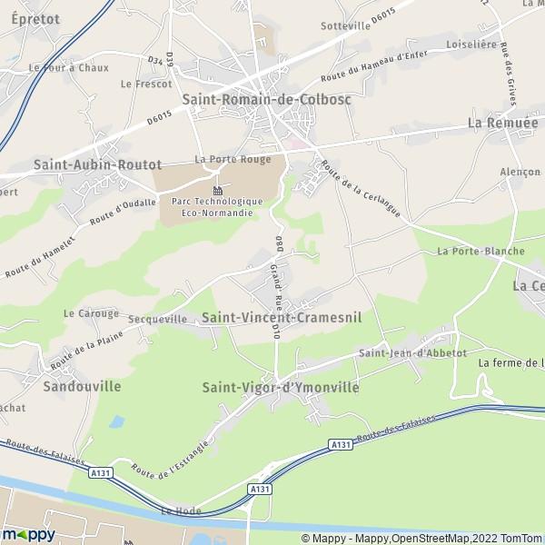 plan de Saint-Vincent-Cramesnil, carte de Saint-Vincent-Cramesnil