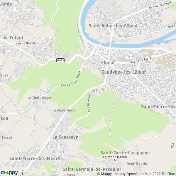 plan de Elbeuf, carte de Elbeuf