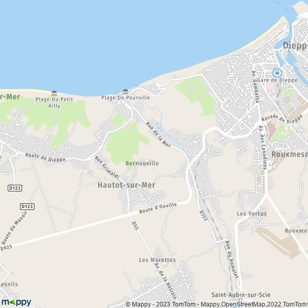 Carte Canada Mappy.Plan Hautot Sur Mer Carte De Hautot Sur Mer 76550 Et