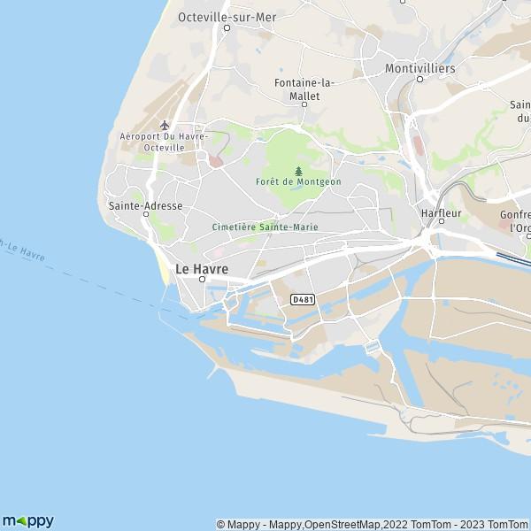 plan de Le Havre, carte de Le Havre