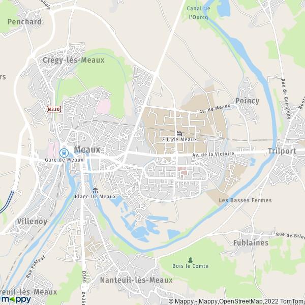 plan de Meaux, carte de Meaux