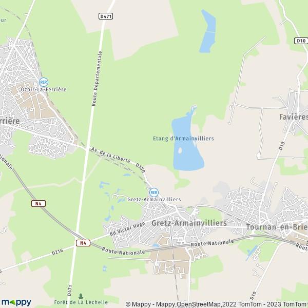plan de Gretz-Armainvilliers, carte de Gretz-Armainvilliers