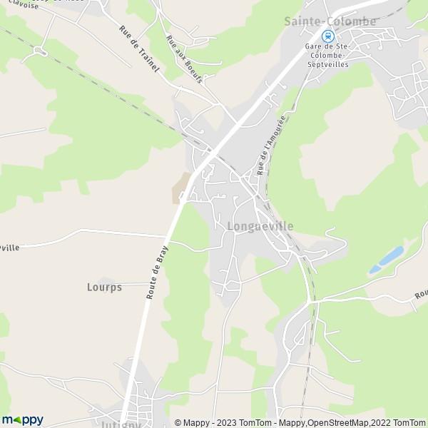 plan de Longueville, carte de Longueville