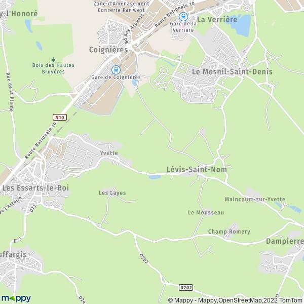 Plan levis-saint-nom : carte de levis-saint-nom (78320) et infos pratiques