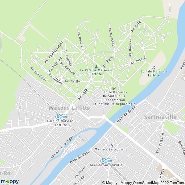 plan de Maisons-Laffitte, carte de Maisons-Laffitte
