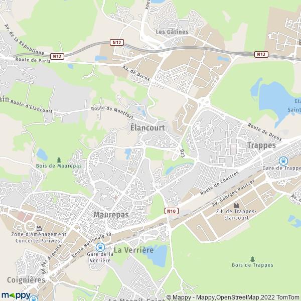 Plan elancourt carte de elancourt 78990 et infos pratiques for Piscine elancourt