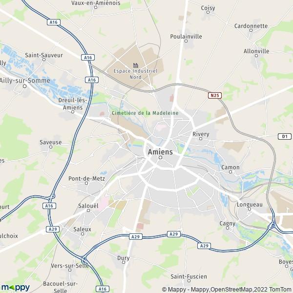 Plan Amiens   Mappy : carte de Amiens (80090) et infos ...