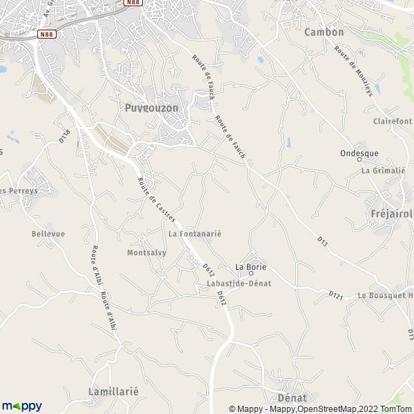 Plan De La Ville De Lacaune