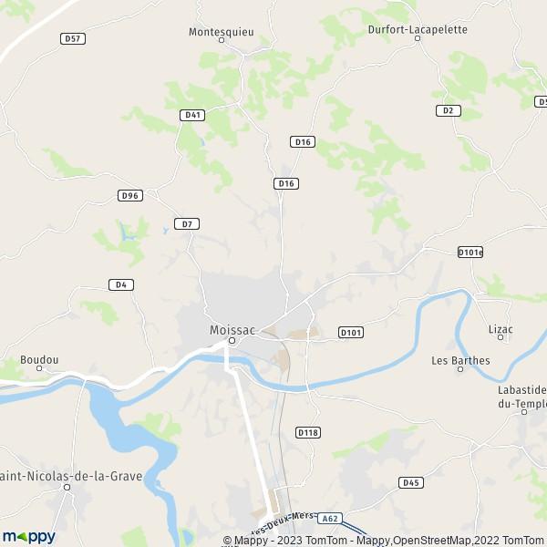 Moissac Plan De La Ville
