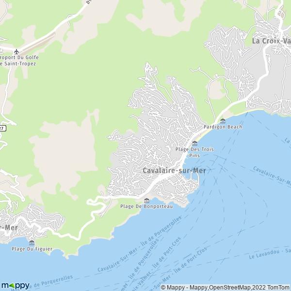 cavalaire sur mer carte Plan cavalaire sur mer : carte de cavalaire sur mer (83240) et