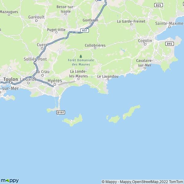 Plan Hyeres Carte De Hyeres 83400 Et Infos Pratiques