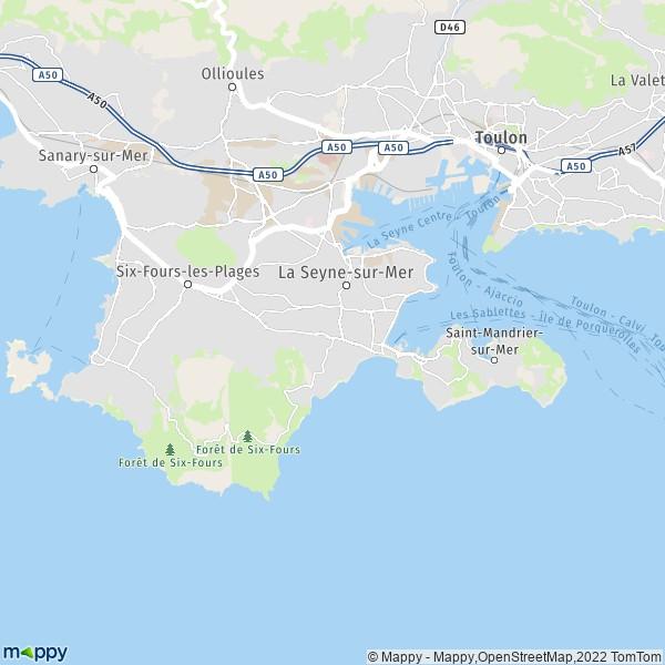 plan de La Seyne-sur-Mer, carte de La Seyne-sur-Mer