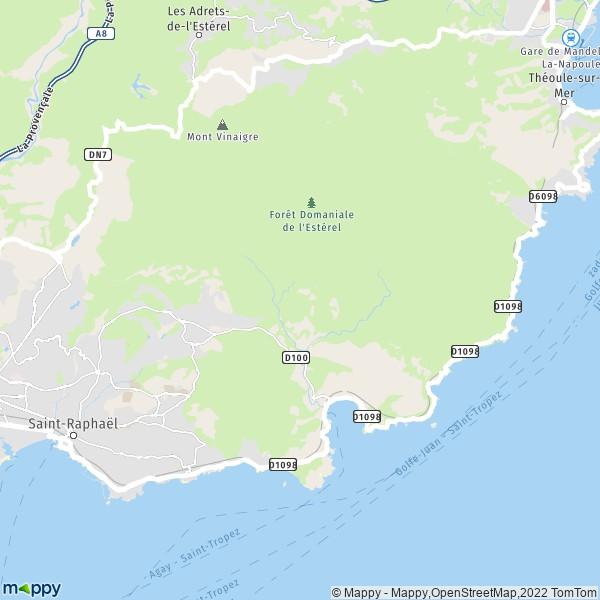 Plan saint rapha l carte de saint rapha l 83530 et for La table saint raphael