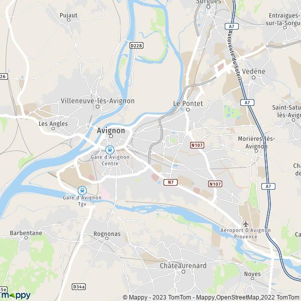 Avignon carte
