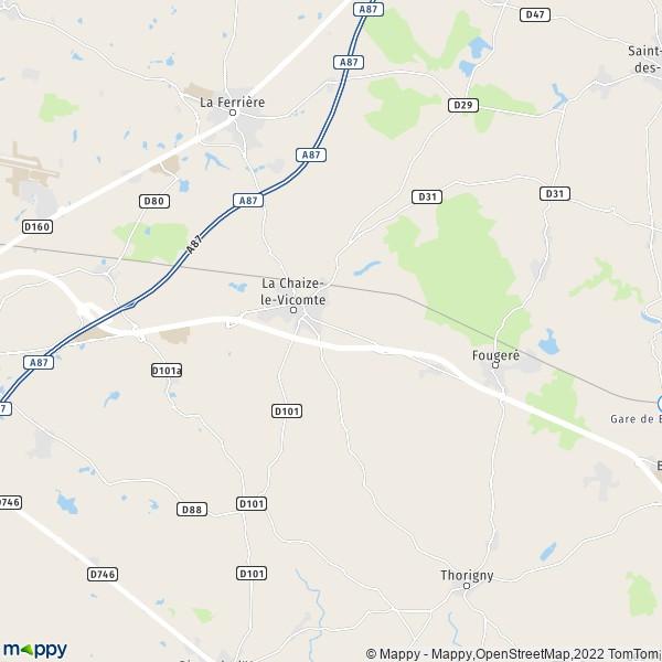 Plan De La Chaize Le Vicomte Carte