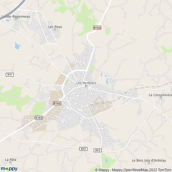 plan de Les Herbiers, carte de Les Herbiers