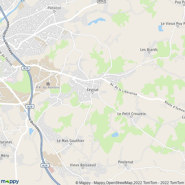 Feytiat France  city photo : Plan Feytiat : carte de Feytiat 87220 et infos pratiques