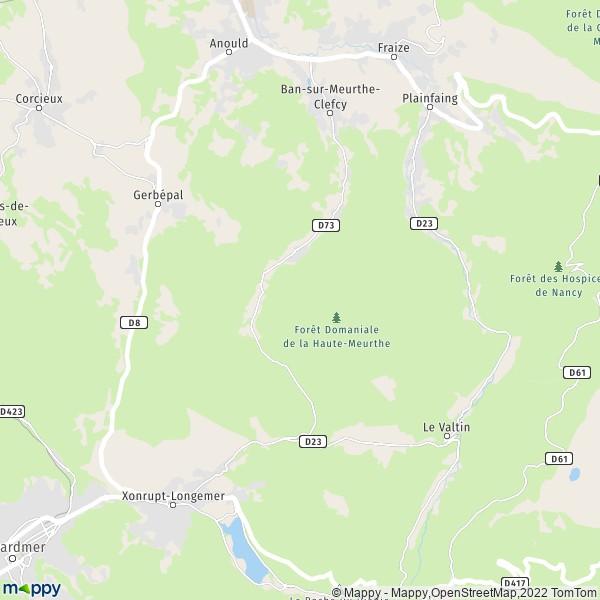 plan de Ban-sur-Meurthe-Clefcy, carte de Ban-sur-Meurthe-Clefcy