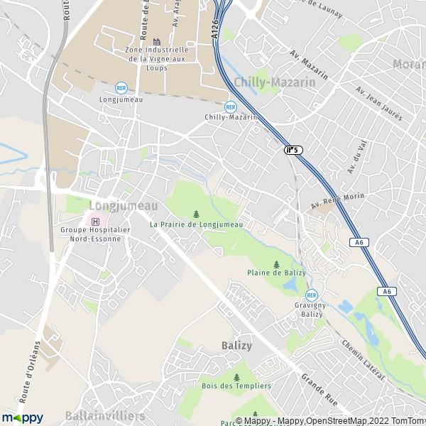 Plan longjumeau carte de longjumeau 91160 et infos - Piscine de saint michel sur orge ...