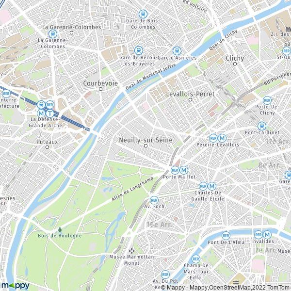 plan de Neuilly-sur-Seine, carte de Neuilly-sur-Seine