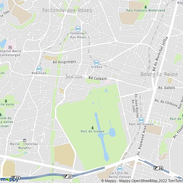 plan de Sceaux, carte de Sceaux