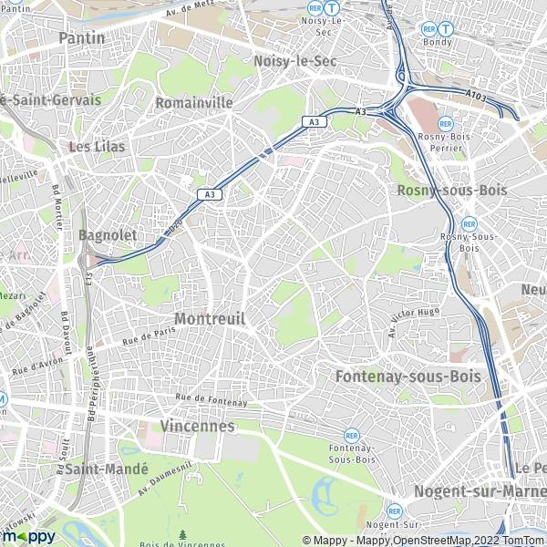 Era Mairie De Montreuil Montreuil: Plan Montreuil : Carte De Montreuil (93100) Et Infos Pratiques