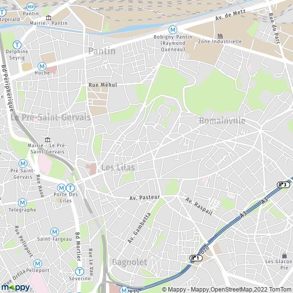 Plan Ville Des Lilas