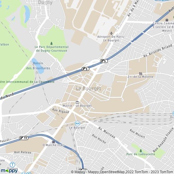 f6dfc46235ffc2 Plan le-bourget   carte de le-bourget (93350) et infos pratiques