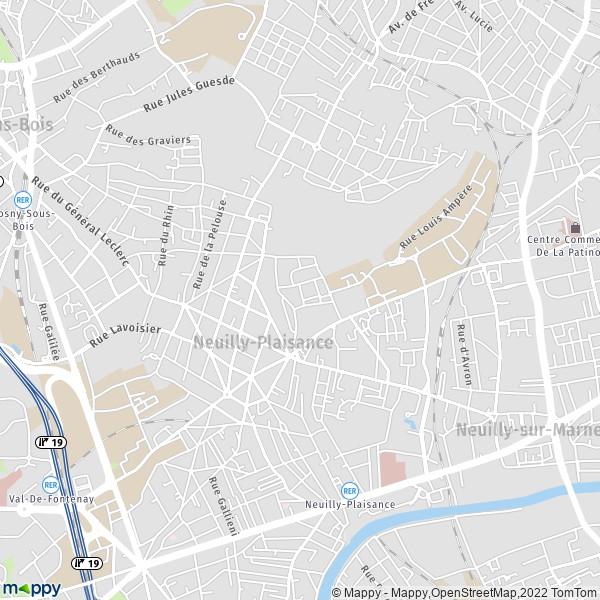 Plan Neuilly Plaisance Carte De Neuilly Plaisance 93360